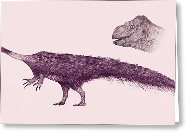 Massospondylus Dinosaur Greeting Card by Nemo Ramjet