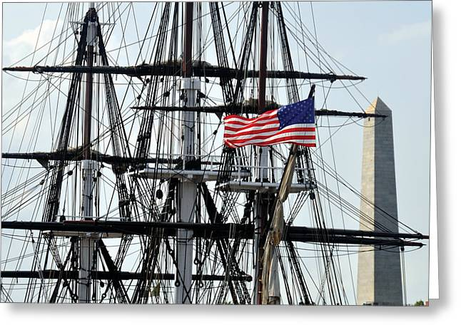 Mast And Flag Greeting Card by Cheryl McClure