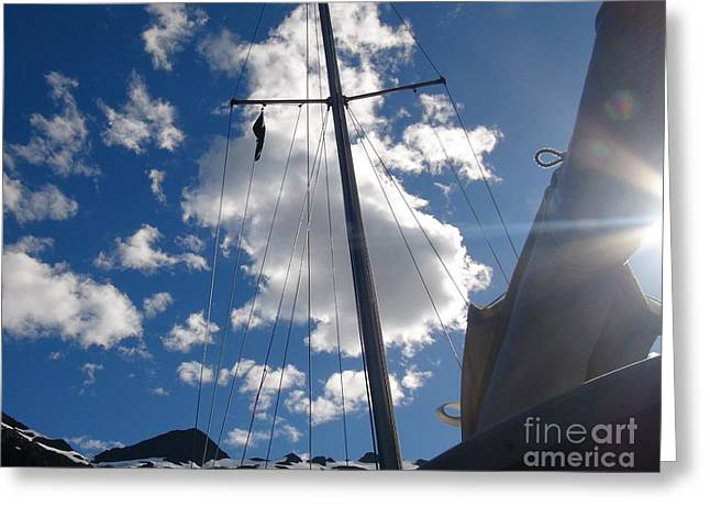 Mast And Sky Greeting Card