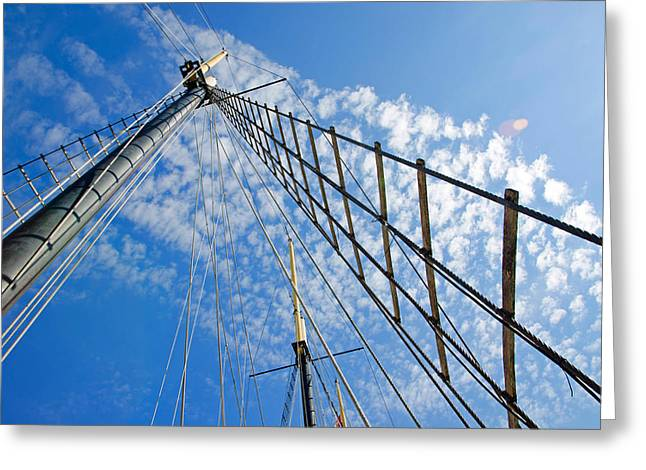 Greeting Card featuring the photograph Masted Sky by Keith Armstrong