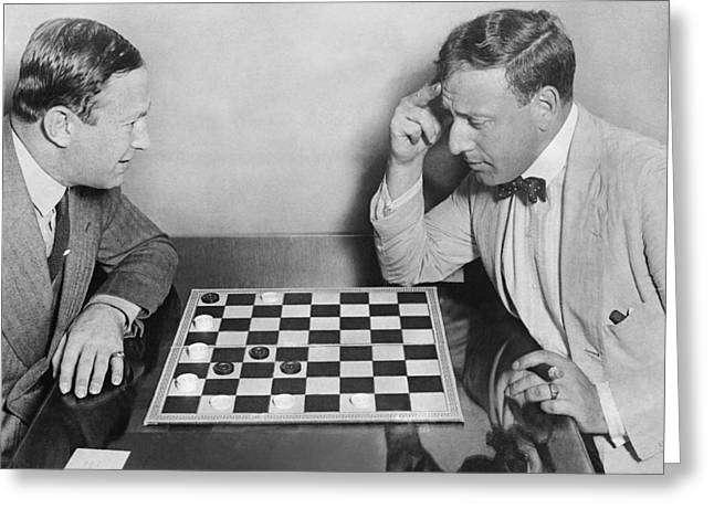 Master Chess Move Greeting Card by Underwood Archives