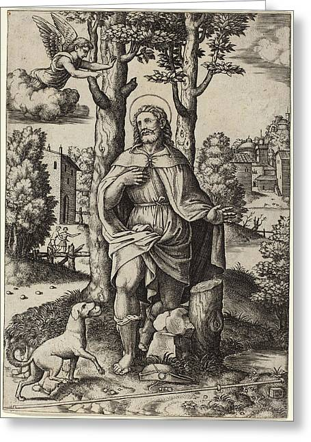 Master Of The Die After Follower Of Raphael Italian Greeting Card by Quint Lox