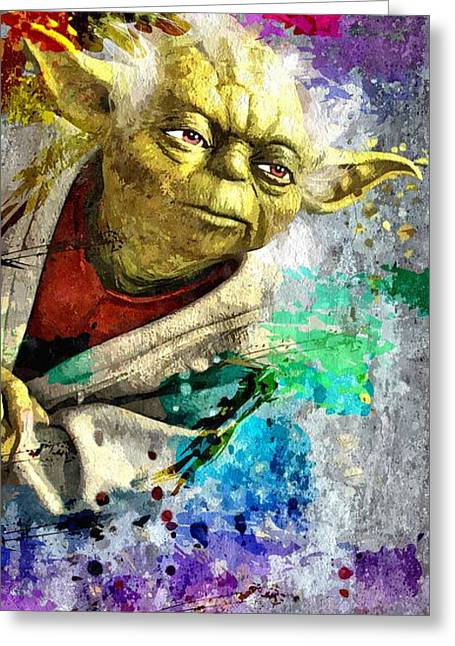 Master Yoda Greeting Card by Daniel Janda
