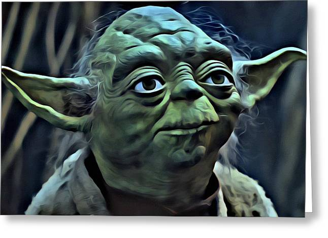 Master Yoda Greeting Card