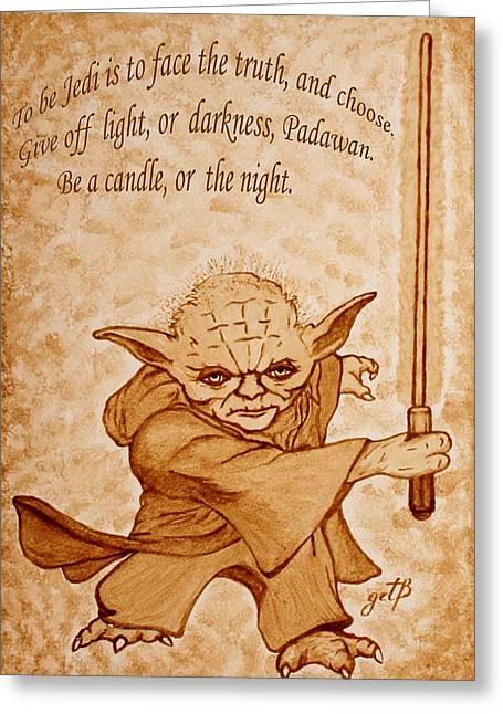 Master Yoda Wisdom Greeting Card