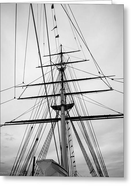 Greeting Card featuring the photograph Masts Of The Cutty Sark by Ross Henton