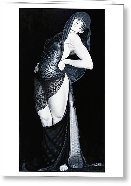 Mata Hari Greeting Card by Mike Walrath