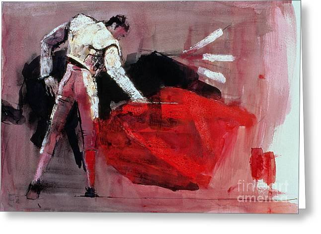 Matador Greeting Card by Mark Adlington