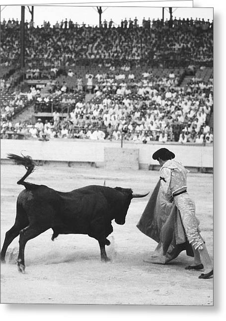 Matador Silverio Perez Greeting Card by Underwood Archives