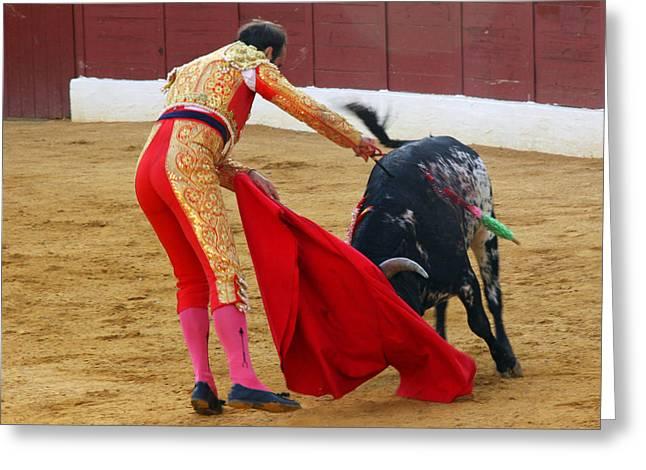 Matador Stabbing Bull Greeting Card by Dave Dos Santos