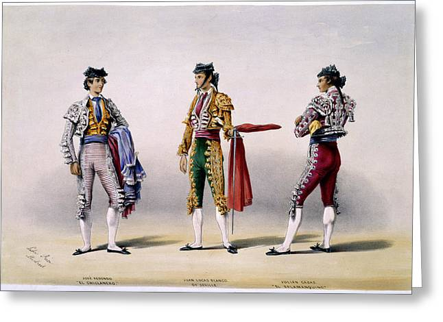 Matadors Greeting Card by British Library