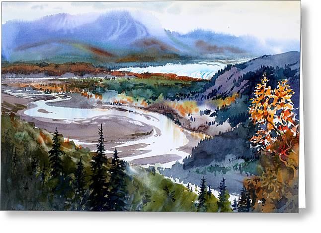Matanuska Glacier Greeting Card by Vladimir Zhikhartsev