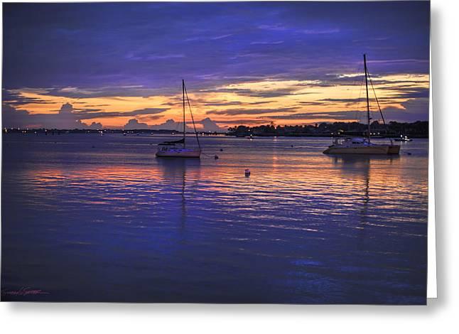 Matanzas Bay Sunrise Greeting Card