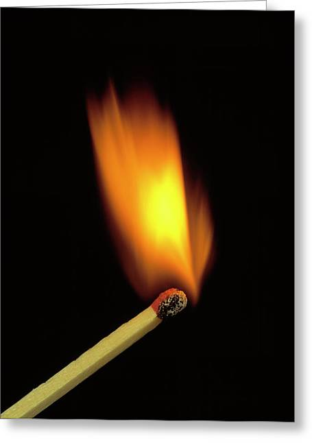 Match Bursting Into Flame Greeting Card