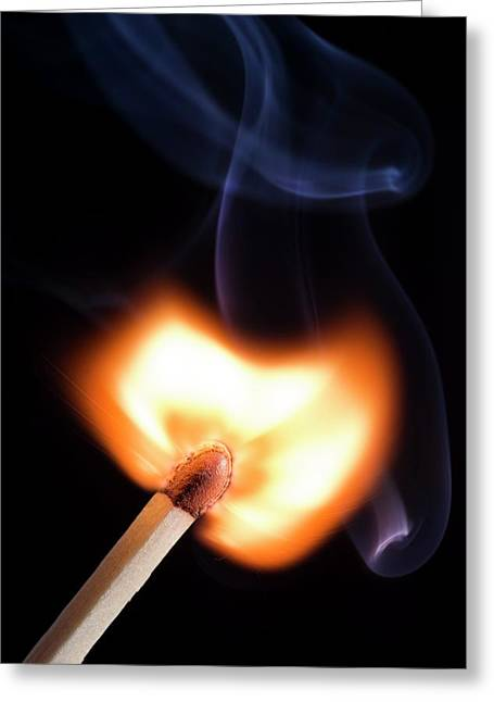 Match Igniting Greeting Card by Daniel Sambraus