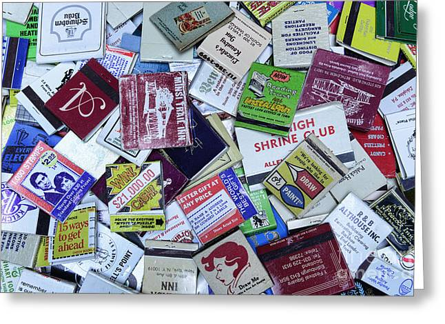 Matchbooks And Matchboxes Greeting Card by Paul Ward