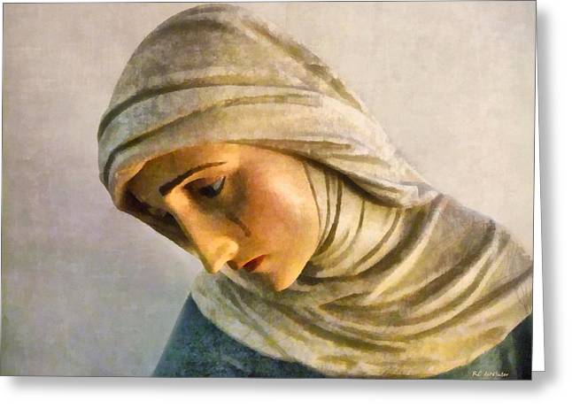 Mater Dolorosa Greeting Card by RC deWinter