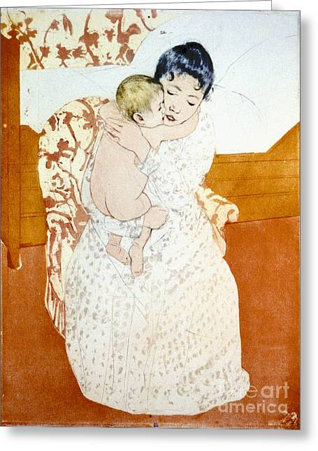 Maternal Caress 1891 Greeting Card by Padre Art