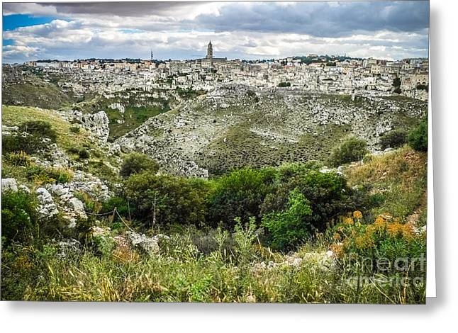 Maters City Of Stones Greeting Card by Sabino Parente
