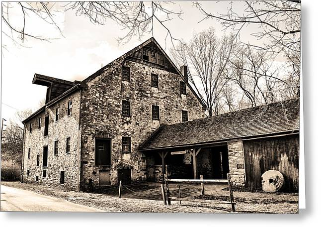 Mather Mill At Fort Washington Pa Greeting Card by Bill Cannon