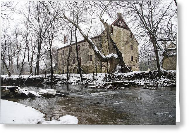 Mathers Mill In Winter Greeting Card by Bill Cannon