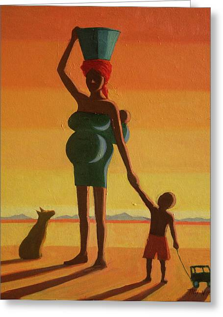 Matriarch, 2004 Oil On Canvas Greeting Card