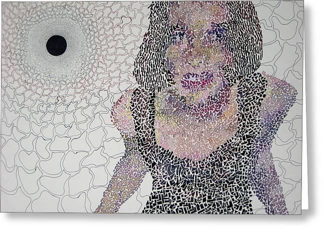 Matrix Greeting Card by Amy Mackenzie