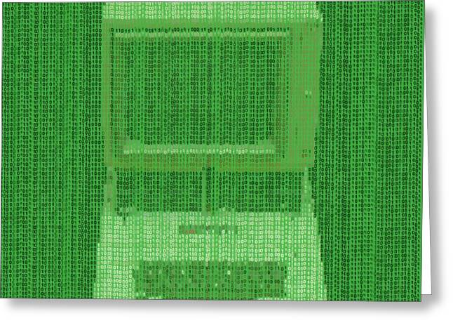 Matrix Computer Greeting Card
