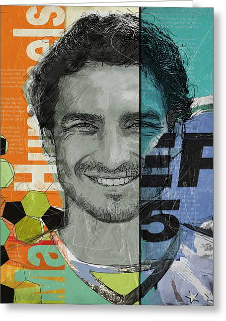 Mats Hummels - B Greeting Card by Corporate Art Task Force