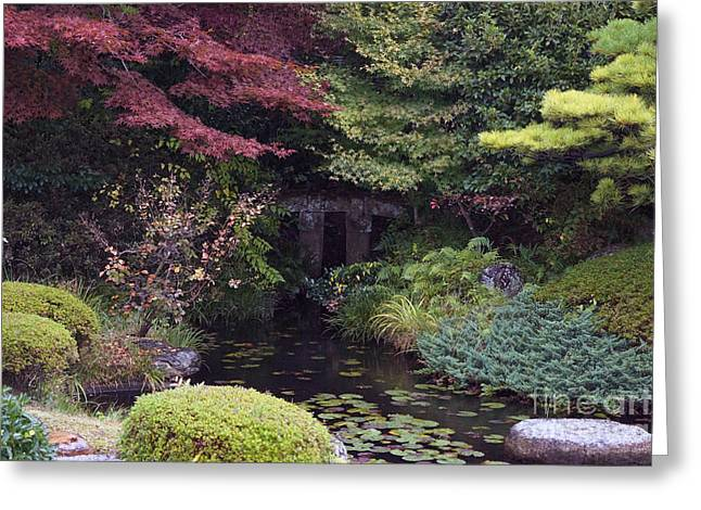Greeting Card featuring the photograph Matsue Garden by Cassandra Buckley