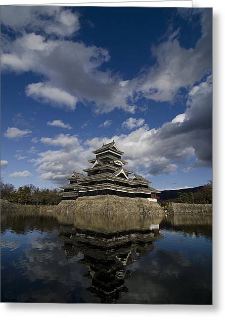 Matsumoto-jo Greeting Card by Aaron Bedell