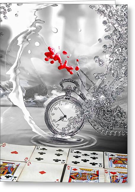 Matter Of Time Greeting Card by Mo T
