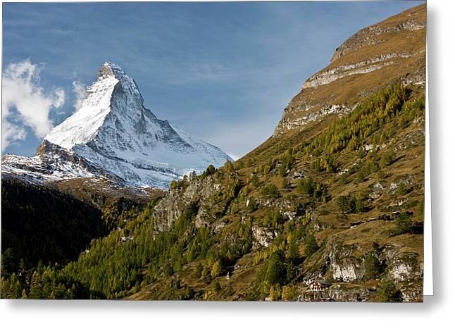 Matterhorn Greeting Card by Bob Gibbons