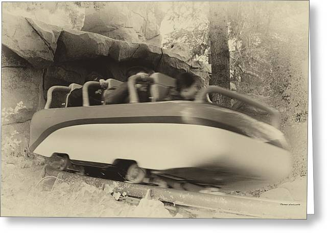 Matterhorn Bobsled Fantasyland Disneyland Heirloom Greeting Card by Thomas Woolworth