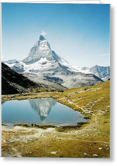 Matterhorn Cervin Reflection Greeting Card