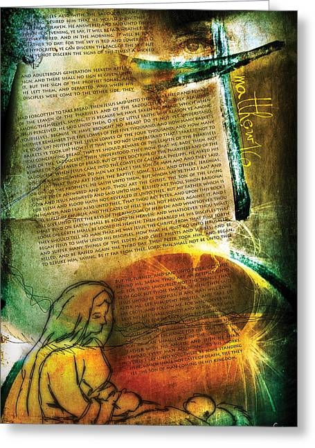 Matthew 16 Greeting Card by Switchvues Design