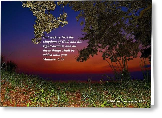 Matthew 6 33 Mlo I Greeting Card