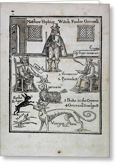 Matthew Hopkins Greeting Card by British Library