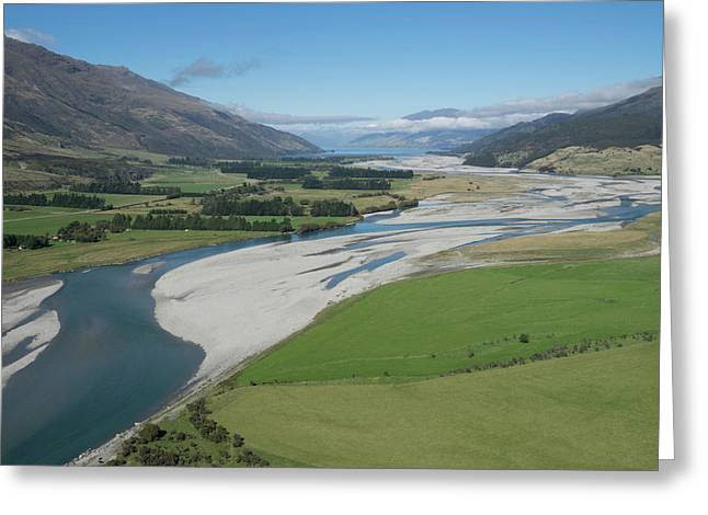Matukituki River As It Flows From Mount Greeting Card by Panoramic Images