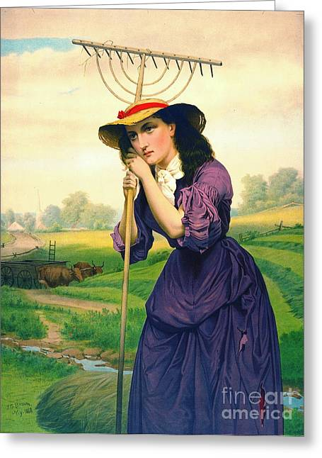 Maud Muller 1868 Greeting Card by Padre Art