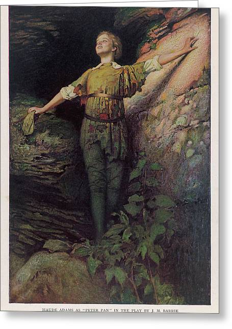 Maude Adams  Actress, As Peter Pan Greeting Card by Mary Evans Picture Library
