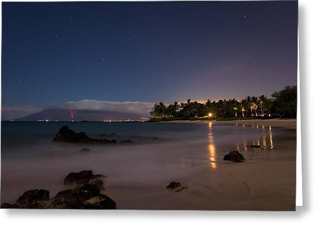 Maui By Night Greeting Card by James Roemmling
