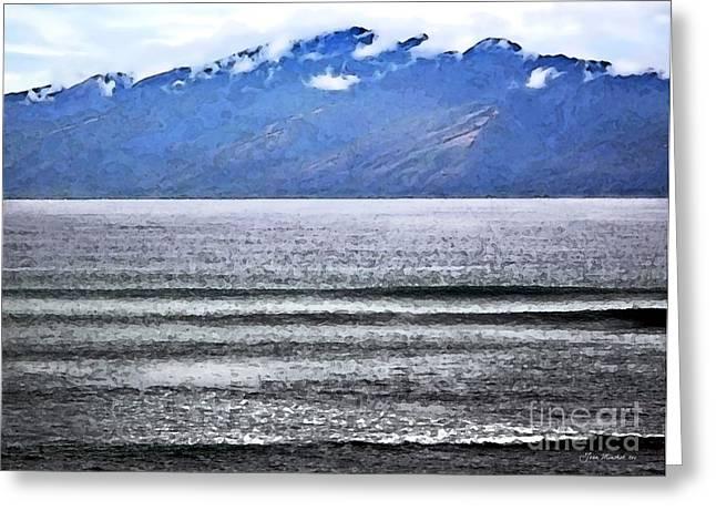 Maui By The Sea Greeting Card by Joan  Minchak