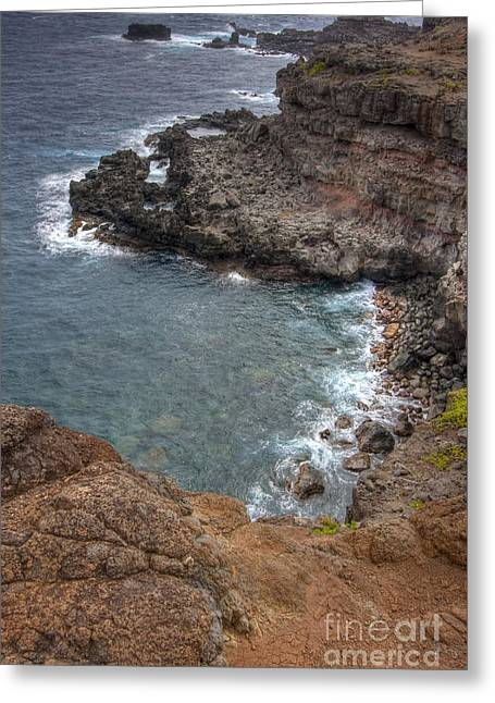Greeting Card featuring the photograph Maui Cliff by Bryan Keil