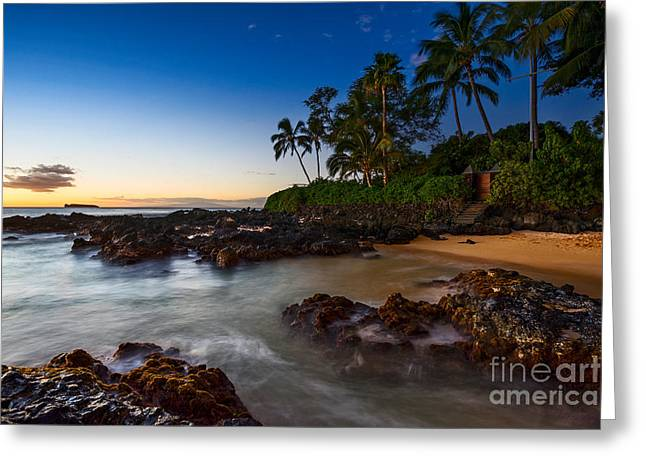 Maui Cove - Beautiful And Secluded Secret Beach. Greeting Card by Jamie Pham