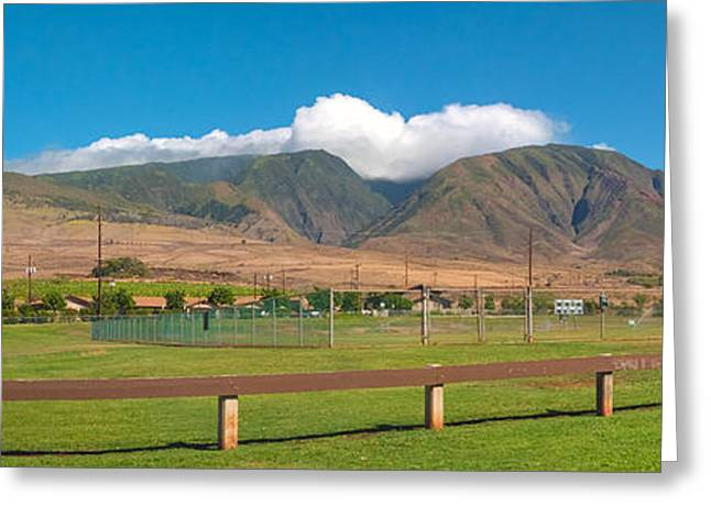 Maui Hawaii Mountains Near Kaanapali   Greeting Card by Lars Lentz