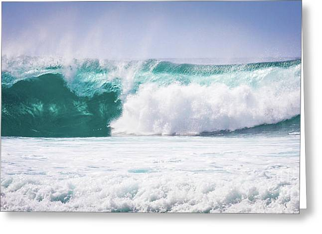 Maui Huge Wave Greeting Card by Denis Dore