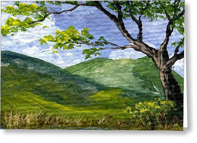 Maui Landscape Greeting Card by Darice Machel McGuire
