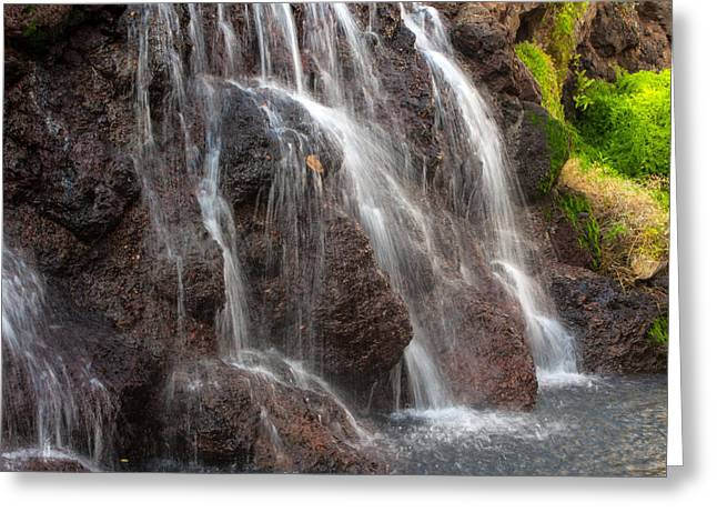 Maui Man In Shower Greeting Card by Michael Flood