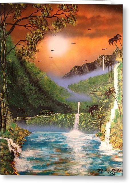 Maui Greeting Card by Michael Rucker